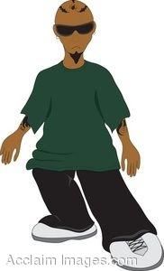 Clip Art of Latino Hip Hop Kid.