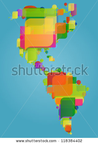 Latin America Map Stock Images, Royalty.