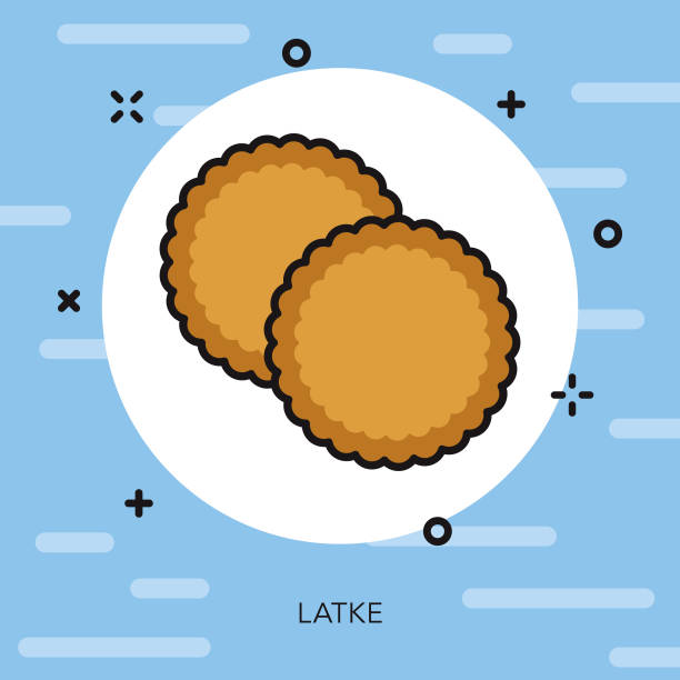 Best Latke Illustrations, Royalty.