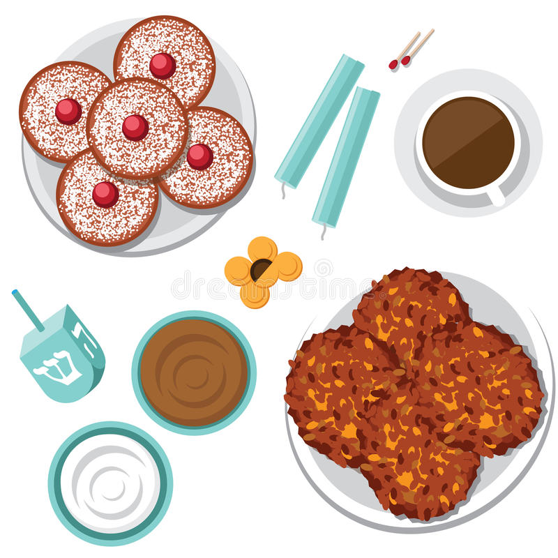 Latkes Stock Illustrations.