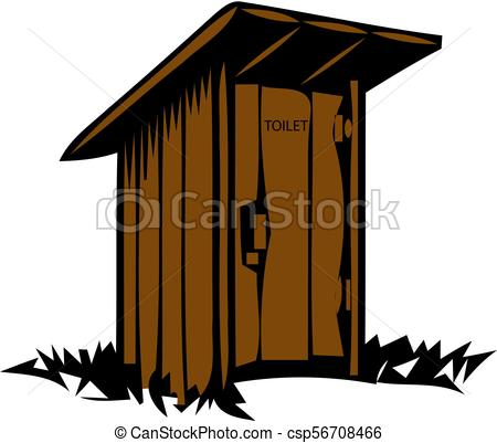 Rustic wooden toilet. Old traditional wc..