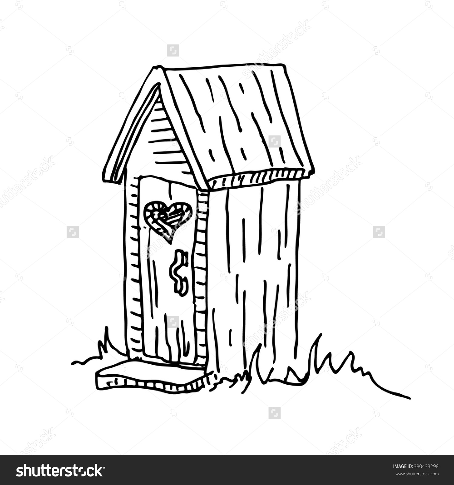Latrine Clipart on outhouse toilet paper