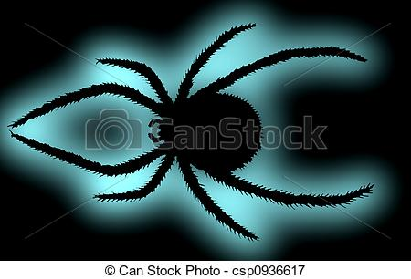 Picture of Black spider. (Latrodectus mactans tredecimguttatus.