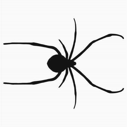 Brown Widow Spider Clip Art.