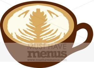 Latte Mug Clipart.