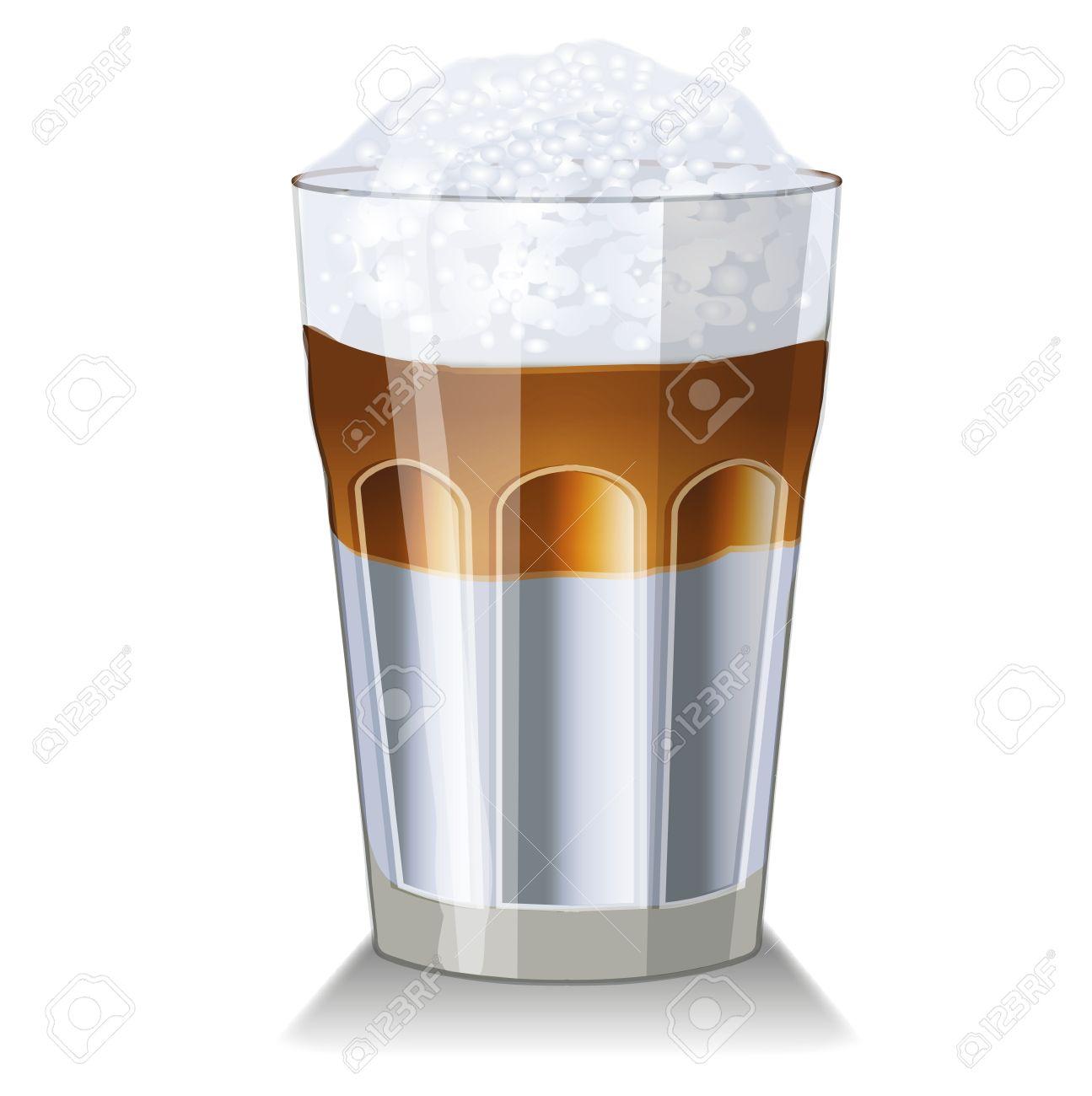 Clipart latte macchiato.