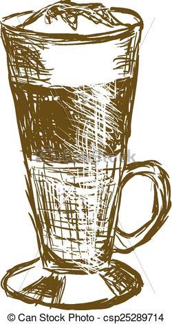 Vector Clip Art of doodle latte macchiato coffee csp25289714.
