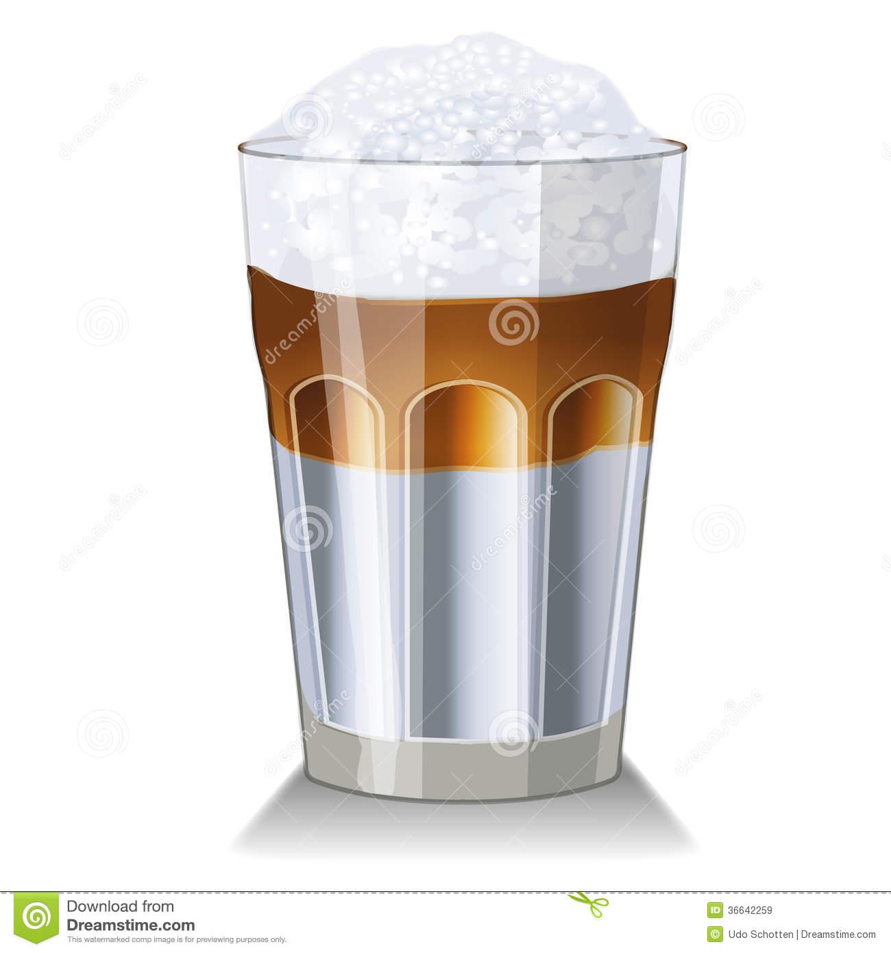 Latte Macchiato Clipart.