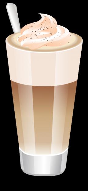 Latte Macchiato Clip Art.