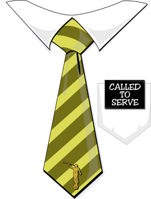 Latter Day Clip Art Called To Serve Missionary Tag Yellow Tie.