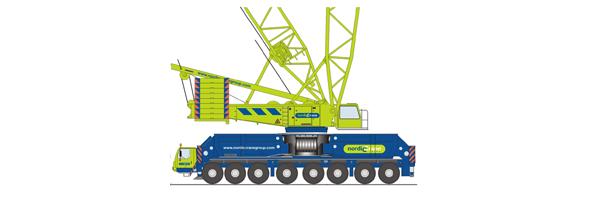 Mobile lattice boom cranes.