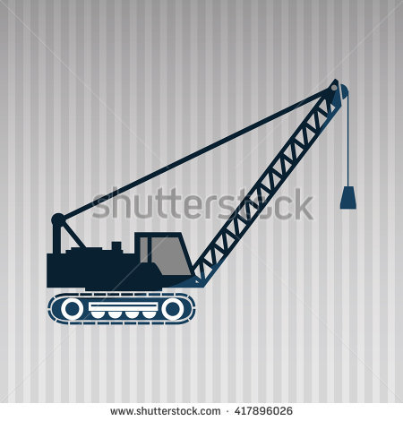 Truck Mounted Lattice Boom Side View Stock Vector 427858336.