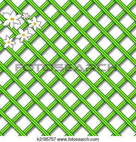 Green lattice clipart.