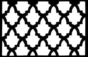 Moroccan Lattice Tile Black White Clip Art at Clker.com.