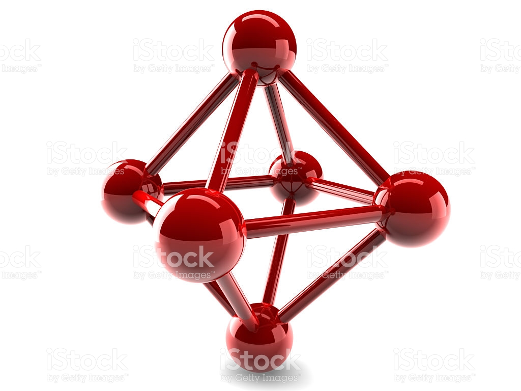 Glass Model Of Molecular Lattice stock photo 481182954.