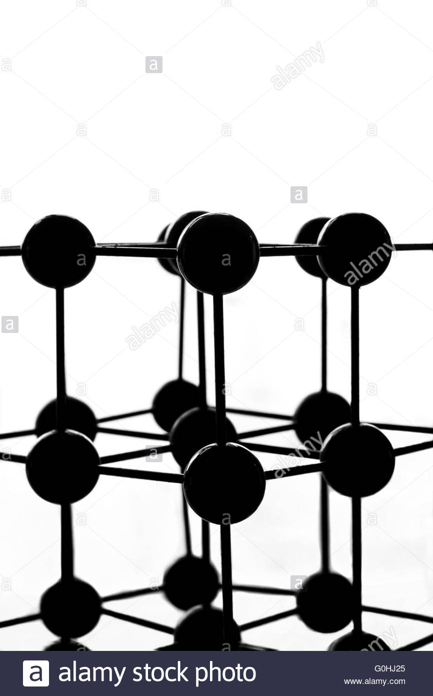 Silhouette Of A Lattice Model Stock Photo, Royalty Free Image.