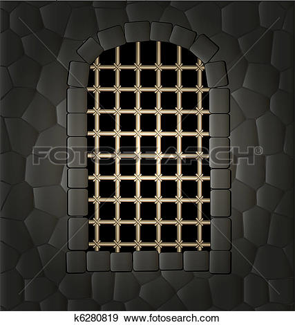 Clip Art of window and lattice k6280819.