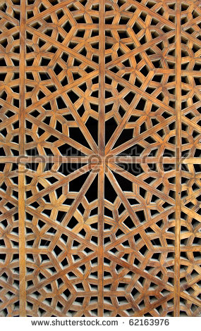 Wooden Lattice Stock Images, Royalty.