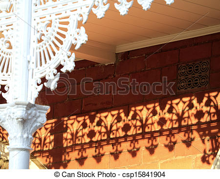 Stock Illustration of lattice and red bricks.