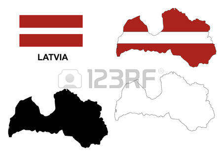 119 Latvia Map Vector Stock Vector Illustration And Royalty Free.