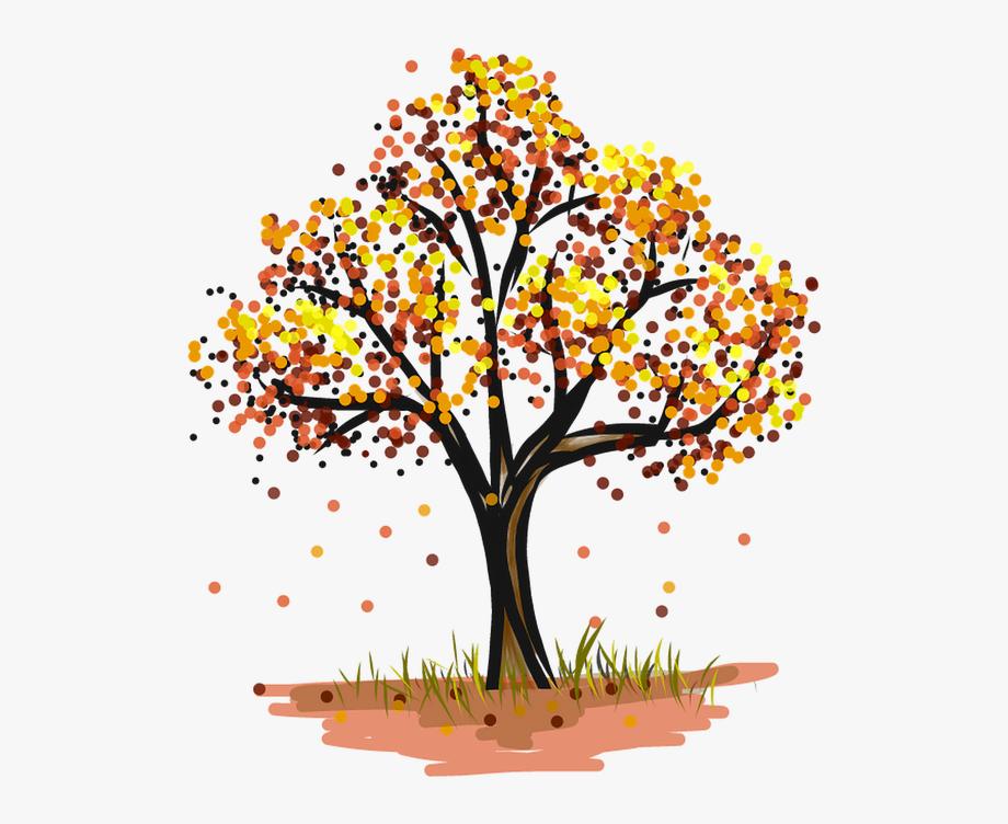 Baum, Laubbaum, Herbst, Bunte, Golden, Blatt.