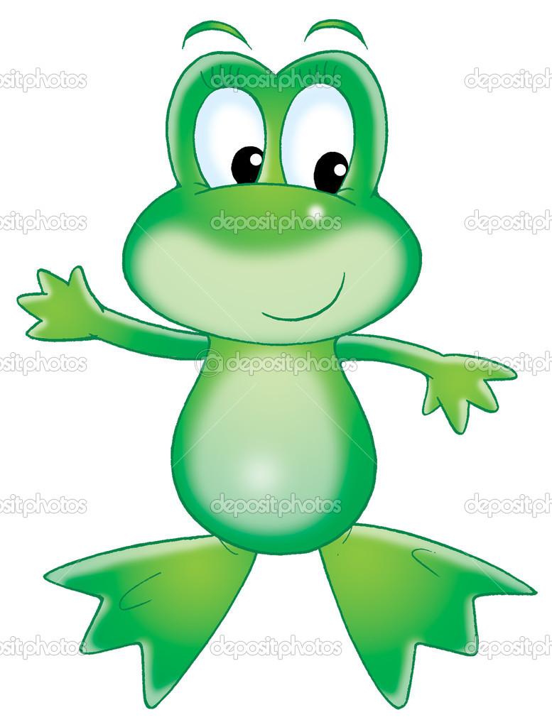 Grüne Frosch — Stockfoto © AlexBannykh #8857419.