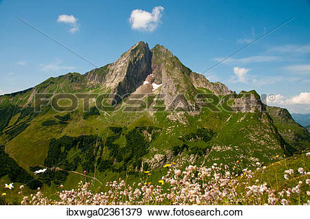 "Stock Photograph of ""East side of Hoefats Mountain, 2259m."