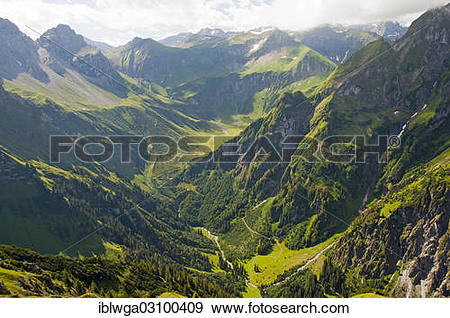"""Stock Photograph of """"View from Laufbacher Eck."""