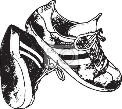 Laufschuhe vektor clipart design illustration leinwandbilder.