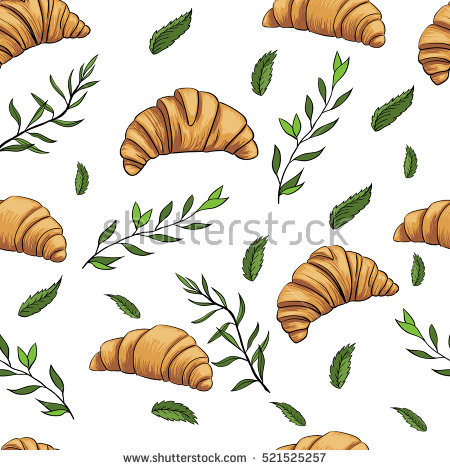 French Croissant Stock Photos, Royalty.