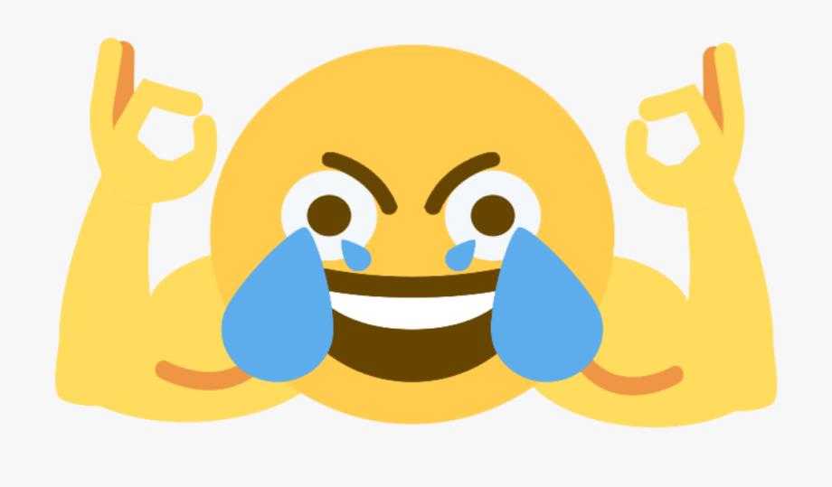 Open Eye Crying Laughing Emoji , Transparent Cartoon, Free.