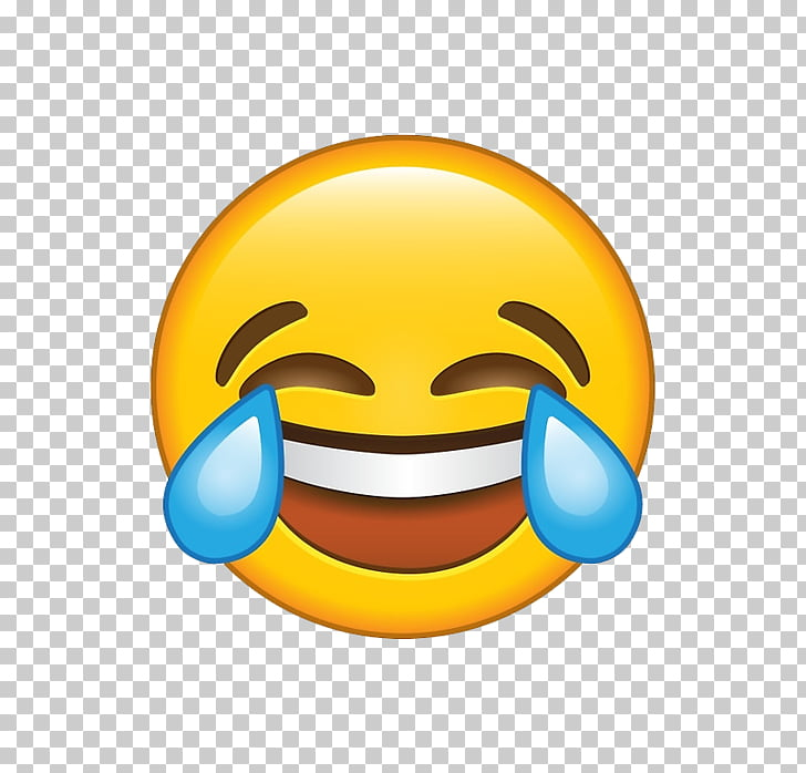 Face with Tears of Joy emoji Laughter Crying Sticker, Emoji.