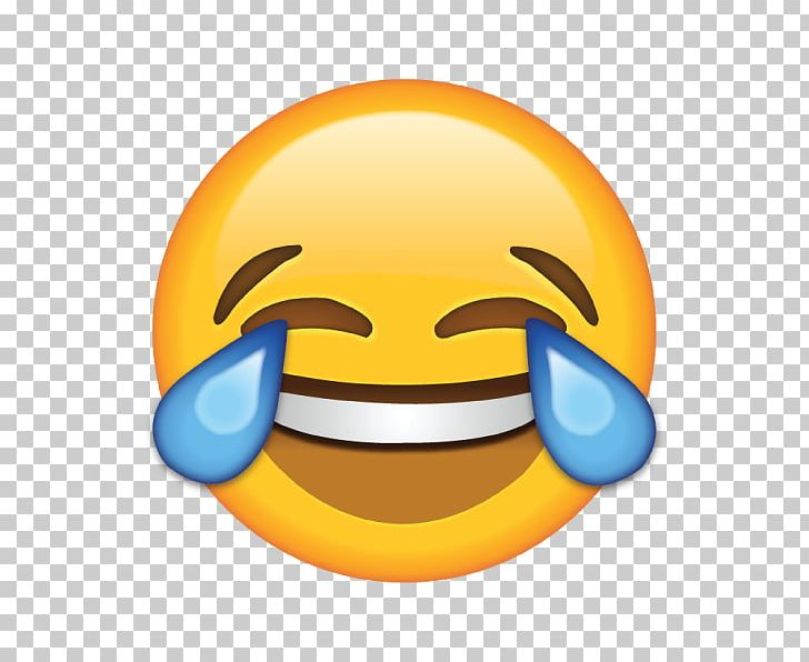 Face With Tears Of Joy Emoji Laughter Crying Sticker PNG.