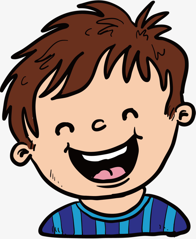 Laughing Boy Vector, Hand, Short Hair, L #199497.