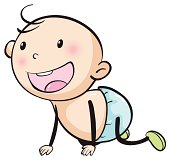 Laughing Baby Clip Art, Vector Laughing Baby.