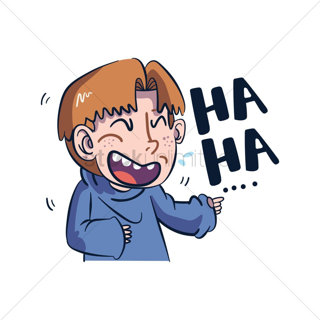 Cartoon character laughing Vector Image.