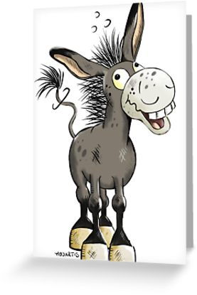 \'Funny Laughing Donkey\' Greeting Card by modartis.