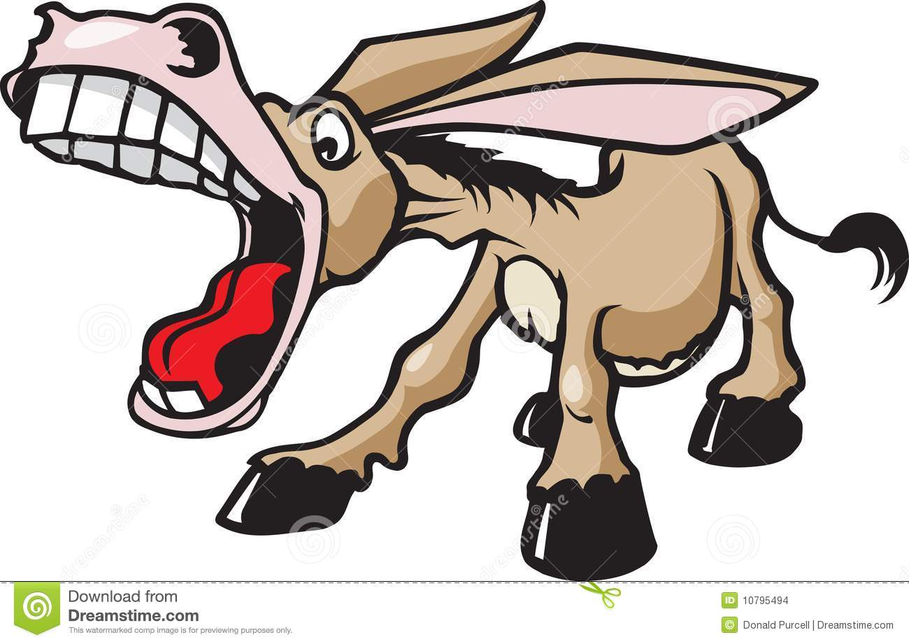 Laughing Donkey Clipart.
