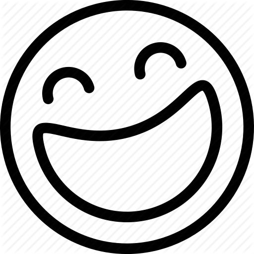 laughing face clipart black and white - Clipground