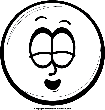 Laughing Face Clipart Black And White.