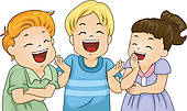 Clipart of People Laughing k13445210.