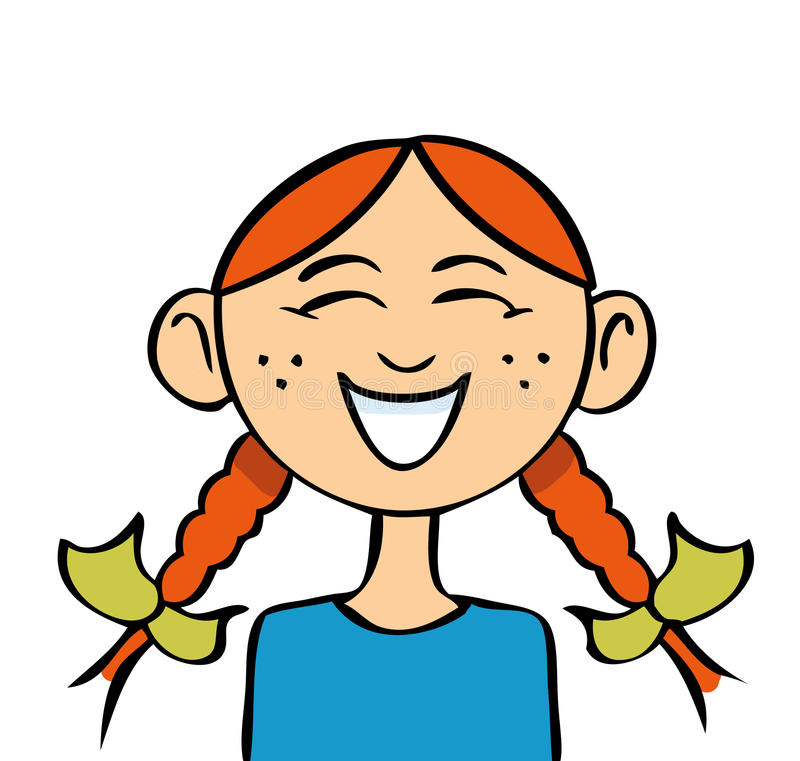 Girl Laughing Stock Illustrations.