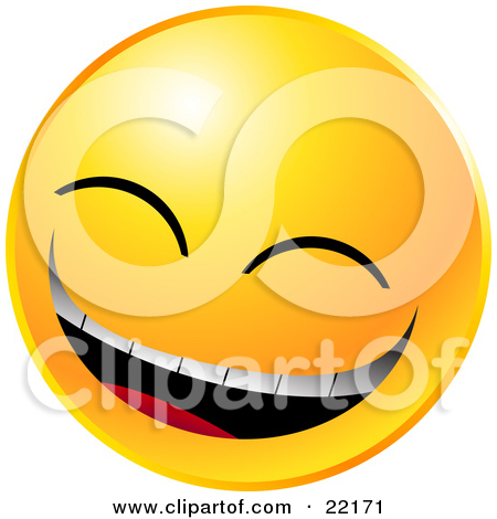 Clipart Illustration of a Yellow Emoticon Face Lady With Eyelashes.