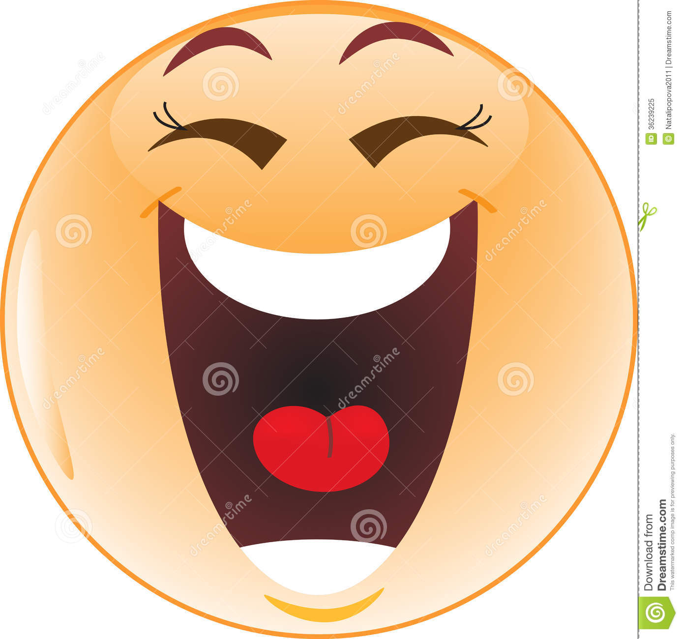 Laughing Smiley Royalty Free Stock Photo.