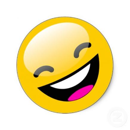 Laughing Smiley Face Emoticon.