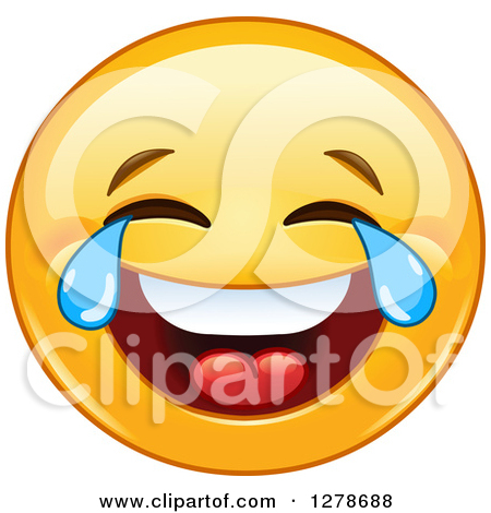 Clipart Laughing And Pointing Emoticon Face.