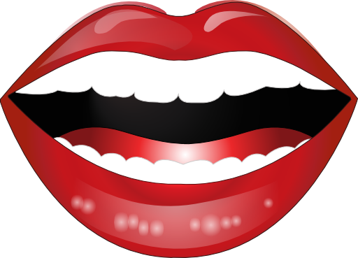 Laughing Lips Smiley Emoticon Clipart.