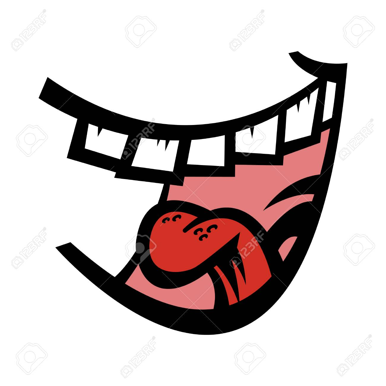 Mouth Laughing Clipart.