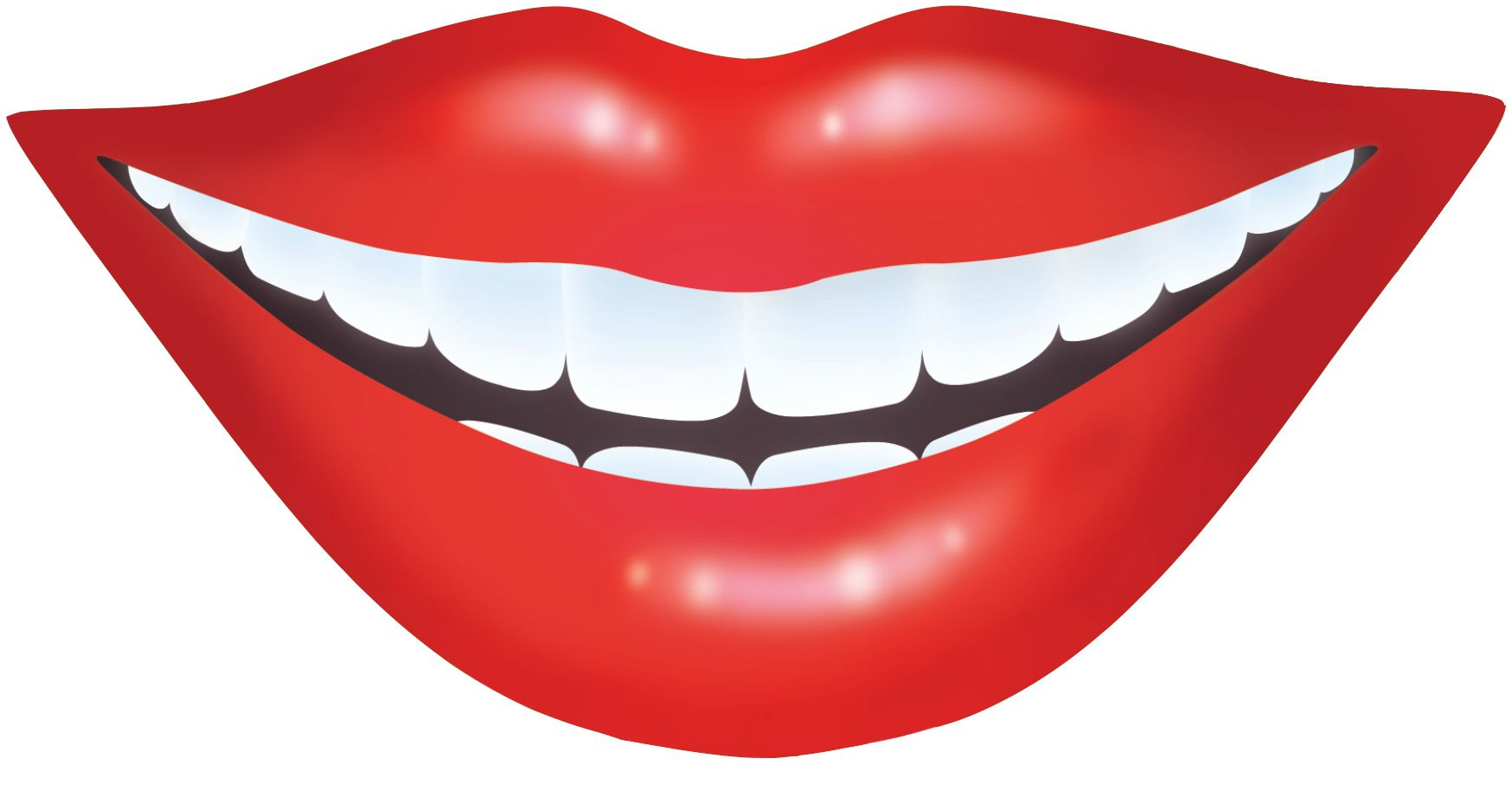 Smiling Lips Clipart.