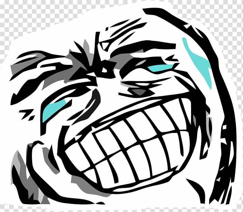 Laughing person illustration, Rage comic Internet meme.
